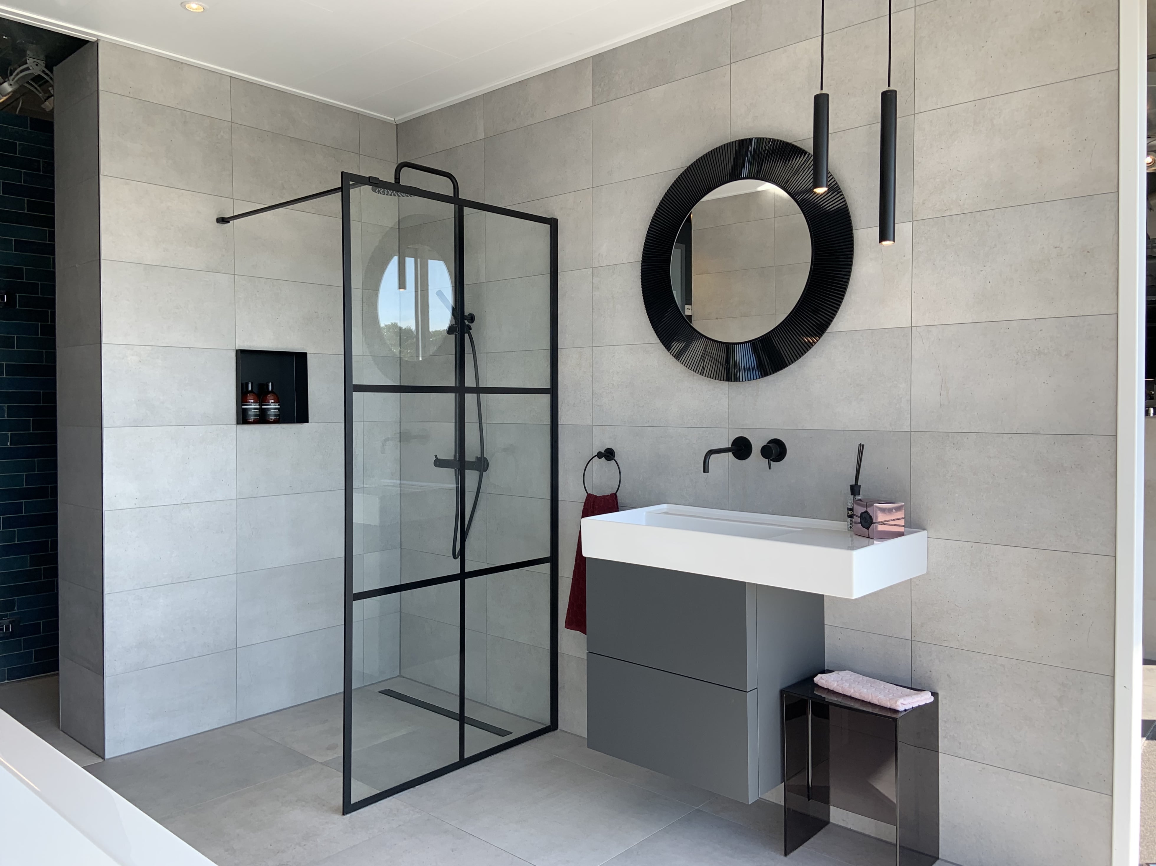 Nieuwe Badkamer In Onze Showroom In Eibergen Witzand Bouwmaterialen